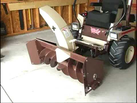 Grasshopper with Snow Blower Attachment